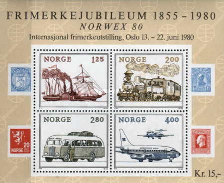 [Transportation - International Stamp Exhibition NORWEX 80, Typ ]