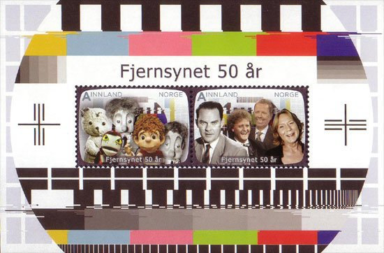 [The 50th Anniversary of Norwegian Television - Different Perforation, type ]