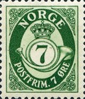 [Definitives - Post Horn - Size: 17 x 21mm, Typ AK4]