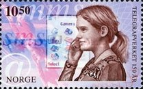 [The 150th Anniversary of the Norwegian Telegraph Service, type APY]