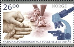 [The 100th Anniversary of the Norwegian Health Association, type AWT]