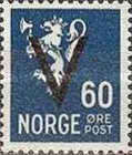[National arms overprinted V, Typ AX14]