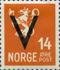 [National arms overprinted V, Typ AX6]
