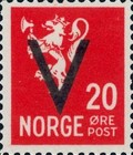 [National arms overprinted V, Typ AX8]