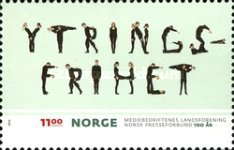 [The 100th Anniversary of the Norwegian Press Association - Freedom of Speech, type AXB]