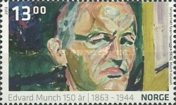 [Paintings - The 150th Anniversary of the Birth of Edvard Munch, 1863-1944, Typ AZP]