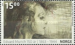 [Paintings - The 150th Anniversary of the Birth of Edvard Munch, 1863-1944, Typ AZQ]