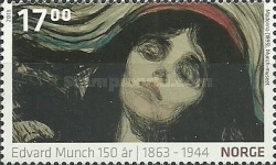 [Paintings - The 150th Anniversary of the Birth of Edvard Munch, 1863-1944, Typ AZR]