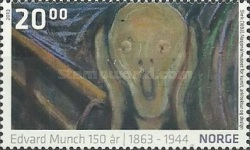 [Paintings - The 150th Anniversary of the Birth of Edvard Munch, 1863-1944, Typ AZS]