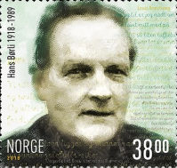 [The 100th Anniversary of the Birth of André Bjerke and Hans Børli, Typ BFN]
