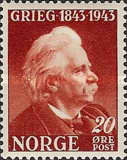 [The 100th Anniversary of the Birth of Edv. Grieg, Typ BO1]