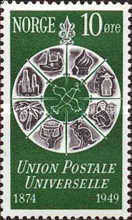 [The 75th Anniversary of the Universal Postal Union, Typ DF]