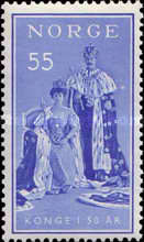 [The 50th Anniversary of the Reign of King Haakon VII, Typ EG1]
