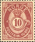 """[Posthorn - """"NORGE"""" without Serifs, type F15]"""