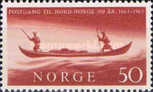 [The 300th anniversary of the opening of postal communication with the North of Norway, Typ FX]
