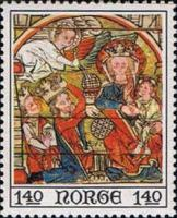 [Christmas stamps - Paintings from Ål stave church, Typ ME]