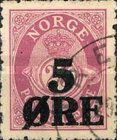 [Issue of 1909 Overprinted - 5 ØRE, Typ Q]