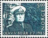 [The 80th Anniversary of the Birth of King Olav V, Typ SM]