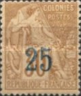 [French Colonies General Issues Postage Stamps Surcharged without
