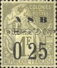 [French Colonies - General Issues Postage Stamps Surcharged, type C2]