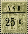 [French Colonies - General Issues Postage Stamps Surcharged, type D2]
