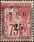 [French Colonies - General Issues Postage Stamps Surcharged, type E1]
