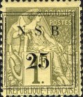 [French Colonies - General Issues Postage Stamps Surcharged, type E2]