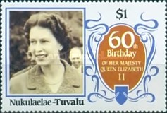 [The 60th Anniversary of the Birth of Queen Elizabeth II, Typ BX]