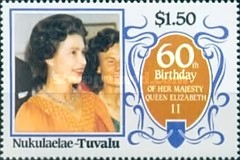 [The 60th Anniversary of the Birth of Queen Elizabeth II, Typ BY]