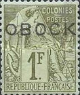 """[French Colonies - General Issues Handstamped """"OBOCK"""" - Horizontal, type B8]"""