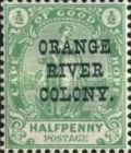 """[British Occupation - Cape of Good Hope Postage Stamps Overprinted """"Orange River Colony"""", type K]"""