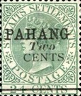 """[Straits Settlements Postage Stamp Overprinted """"PAHANG"""" & Surcharged, type B]"""