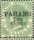 """[Straits Settlements Postage Stamp Overprinted """"PAHANG"""" & Surcharged, type B2]"""