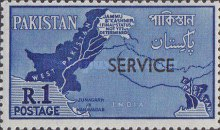 [Disputed Areas - Pakistan Postage Stamps of 1960 Overprinted