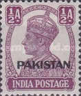 """[India Postage Stamps Overprinted """"PAKISTAN"""" in Small, type A1]"""