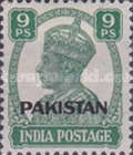 """[India Postage Stamps Overprinted """"PAKISTAN"""" in Small, type A2]"""