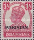 """[India Postage Stamps Overprinted """"PAKISTAN"""" in Small, type A3]"""