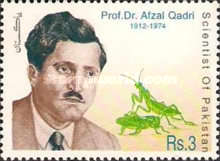 [Scientists of Pakistan - The 25th Anniversary of the Death of Muhammed Afzal Hussain Qadri, 1912-1974, type AGT]