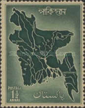[Map of East Pakistan, Typ AM]