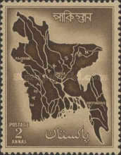 [Map of East Pakistan, Typ AM1]