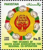 [The 20th Anniversary of South Asian Association for Regional Cooperation or SAARC, Typ AOQ]