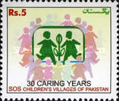 [The 30th Anniversary of SOS Children's Villages of Pakistan, Typ AOS]