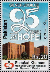 [The 25th Anniversary of Shaukat Khanum Memorial Cancer Hospital and Research Center, Lahore, type BBQ]