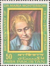 [The 100th Anniversary of the Birth of Dr. Maria Montessori, 1870-1952, Typ GG1]
