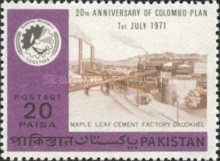 [The 20th Anniversary of Colombo Plan, type GO]
