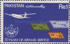 [The 50th Anniversary of Airmail Service, Typ OA]