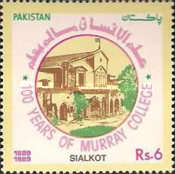 [The 100th Anniversary of Murray College, Sialkot, Typ WI]