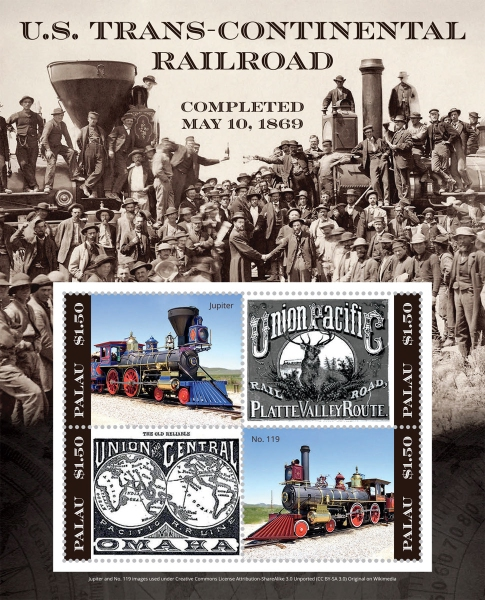 [The 150th Anniversary of the U.S. Trans-Continental Railroad, type ]