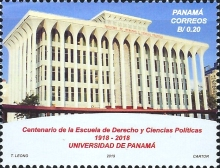 [The 100th Anniversary of the University of Panama School of Law, type AYI]