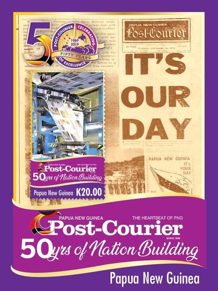 [The 50th Anniversary of Nation Building - Post Courier, type ]